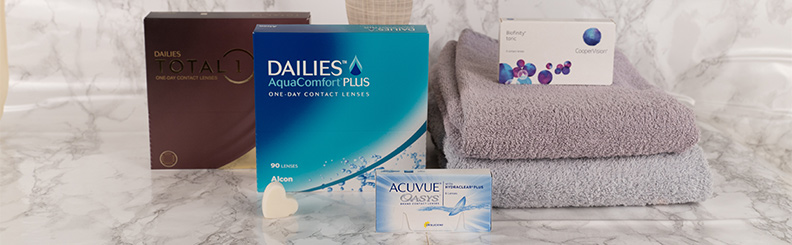 Confezioni di lenti Dailies AquaComfort Plus e Dailies Total 1 formato da 90 lenti