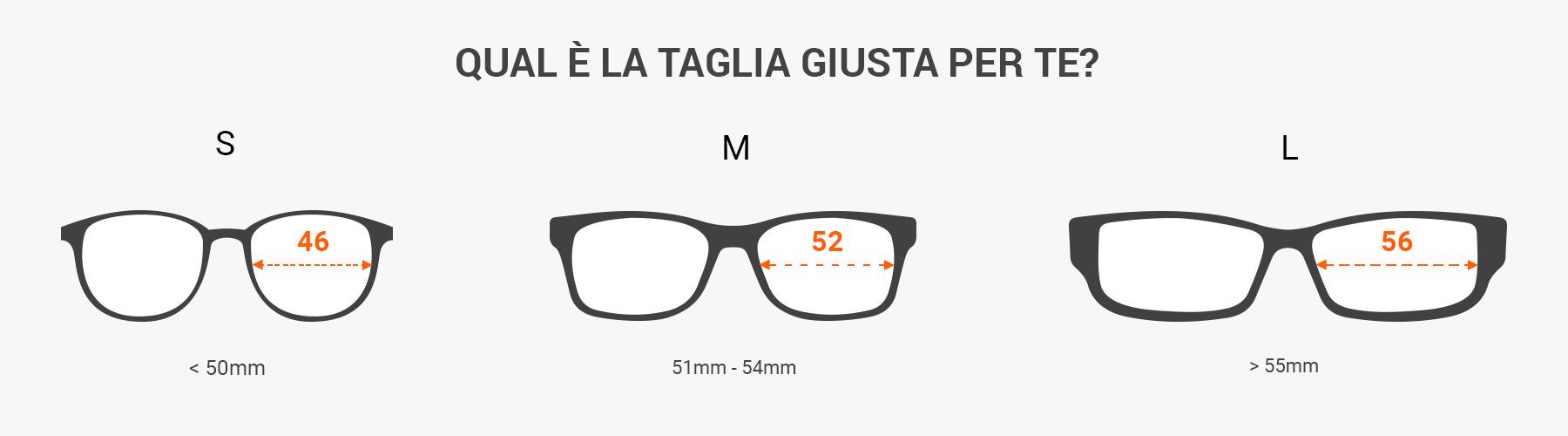 come leggere le misure degli occhiali da sole - misura gli occhiali da sole con un righello
