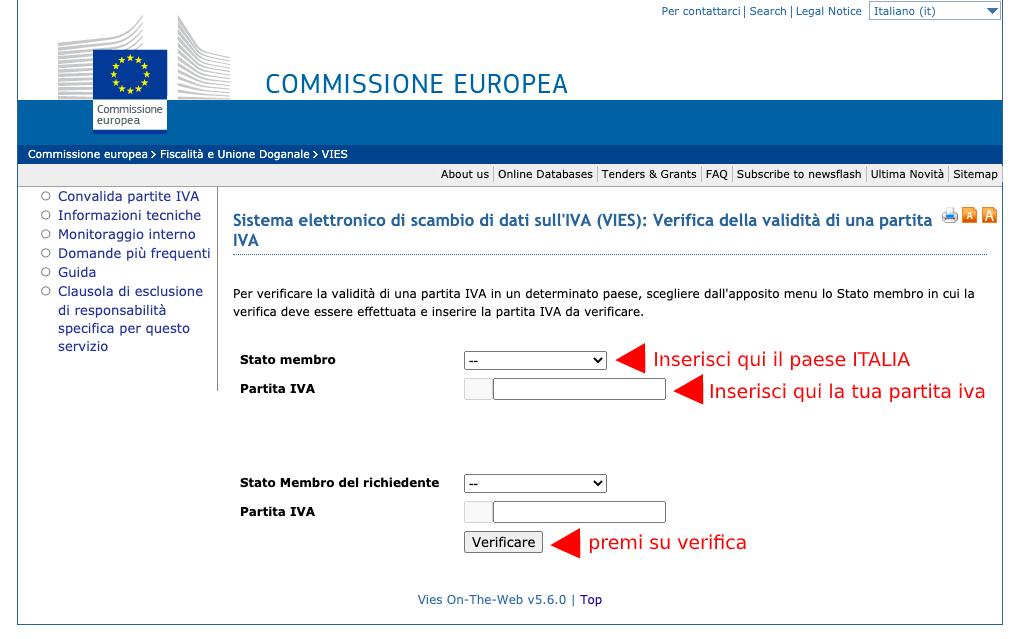 Come verificare se una Partita IVA è iscritta al VIES